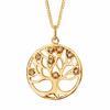 Collier arbre de vie oxydes & plaqué or, diam. 2cm, long 42 à 45cm