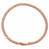 Bracelet argent 925 rose maille pop corn 4.5mm, longueur 20cm