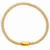 Bracelet argent 925 doré maille pop corn 4.5mm, longueur 20cm