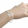 Bracelet papillon en argent 925, longueur 19cm