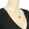 Collier argent, coeur ajouré, chaîne réglable de 41 à 44cm