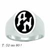 Chevalière plaque couleur au choix, argent 925 (19g), ovale 15x18mm, option initiales, zodiaque + intérieur, T. 52 au 80 !