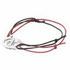 """Bracelet menottes 1cm """"extérieur"""", cordon rouge ou noir, Argent 925"""