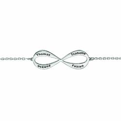 bracelet infini prénoms gravure argent rhodie028734-900p-T