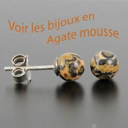 bijoux en Agate mousse