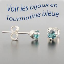bijoux en tourmaline bleue