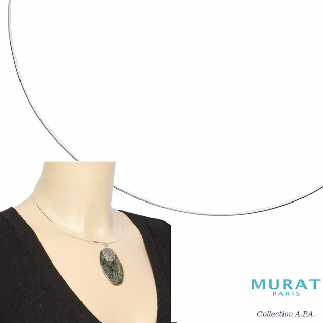 Bijoux Murat Argent 925 : C?ble rigide mm argent option rh?di? cm bijou