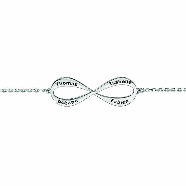 bracelet argent infini femme prenom
