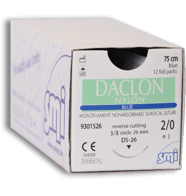 Suture monofilament Daclon Nylon - aiguille ronde