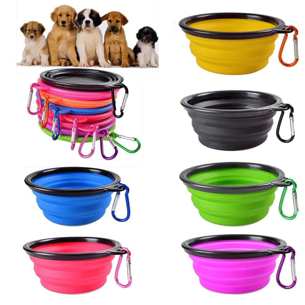Bol-pliable-pour-chiens-Chat-chien-portable-alimentation-d-eau-bol-de-voyage-bol-de-chien