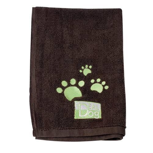 lot-de-2-serviettes-microfibre-idealdog-marron