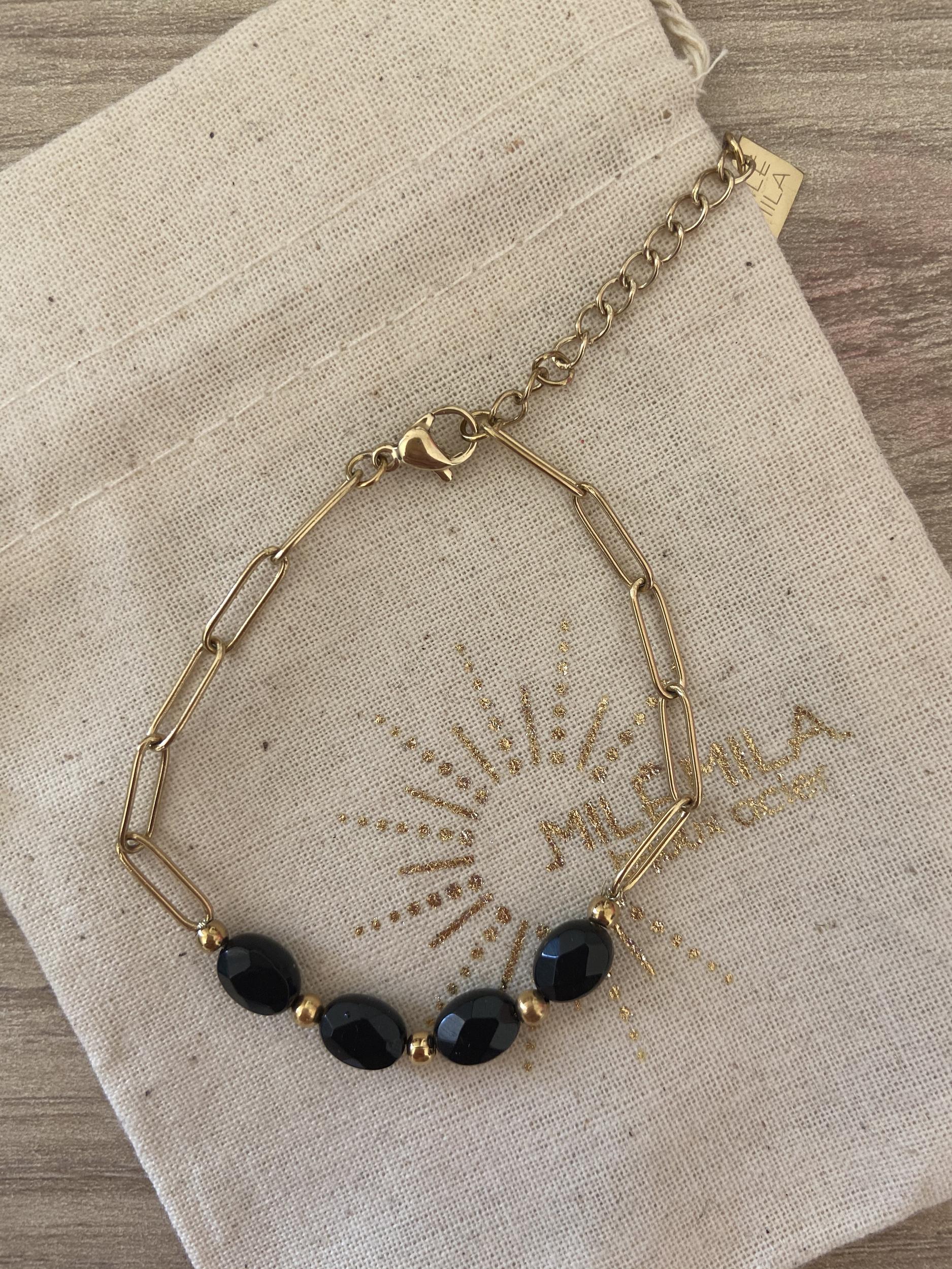 Bracelet Valentin onyx