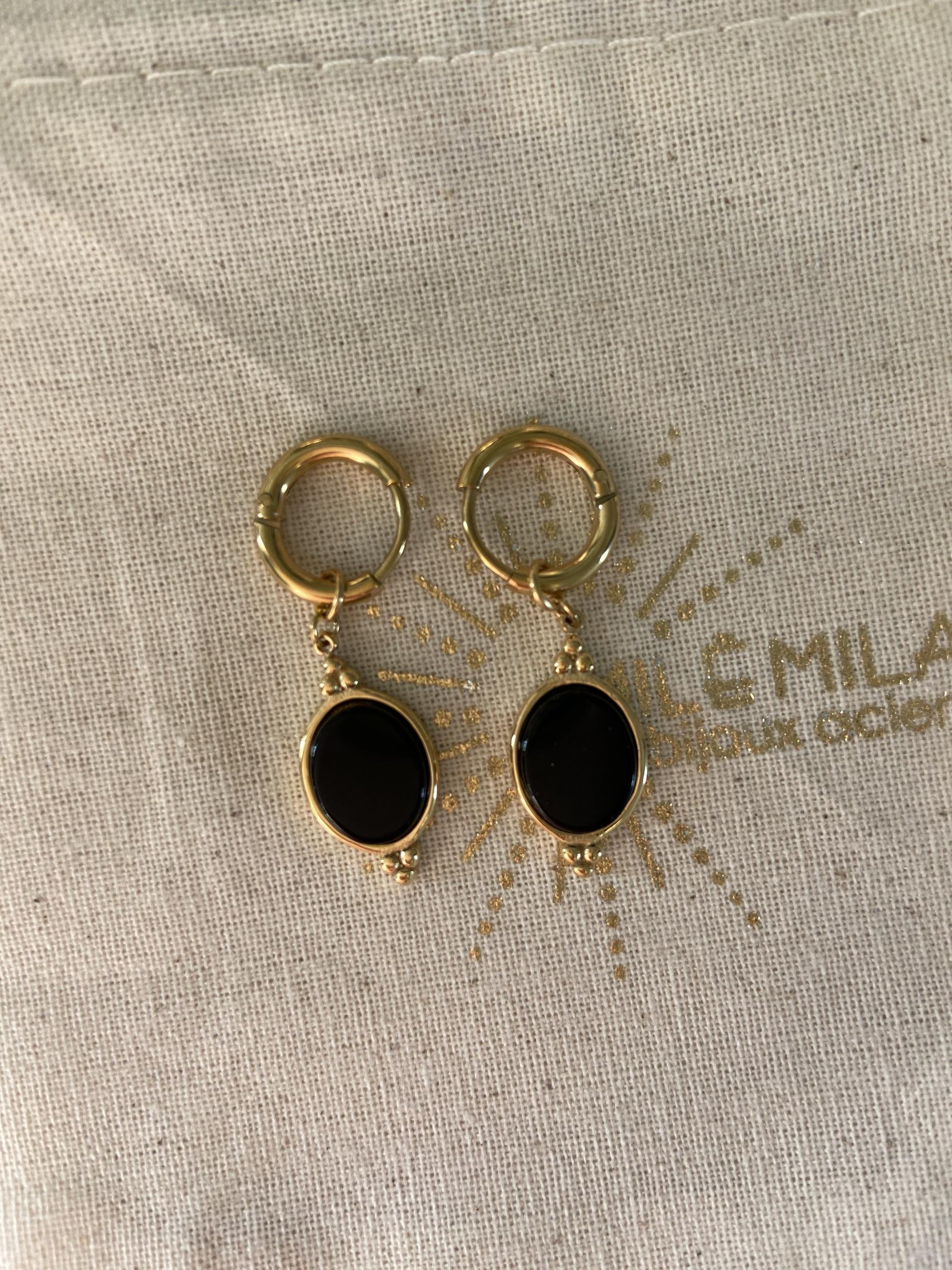 Mini Créoles Lolita noir