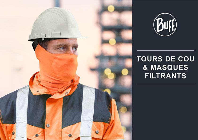 Brochure BUFF PROFESSIONAL Tour de cou et masques filtrants