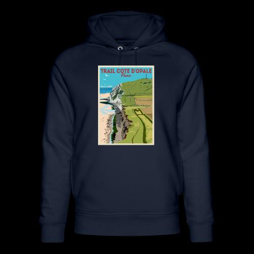 Sweat Trail Côte d\'Opale Capuche Mixte Marine Cap Blanc Nez