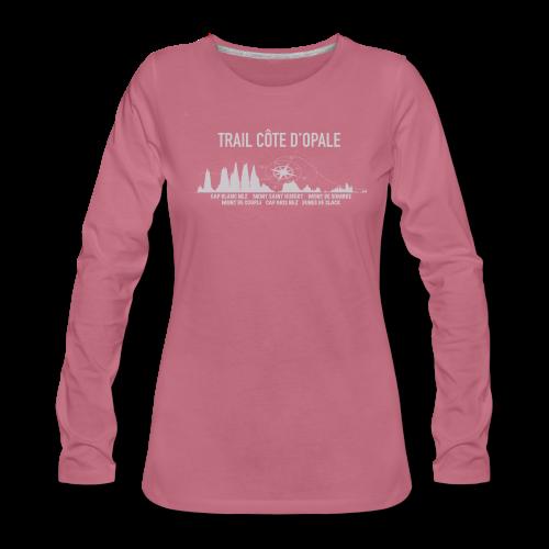 Tee shirt Mauve femme Profil Trail Côte d\'Opale manches longues Premium Femme