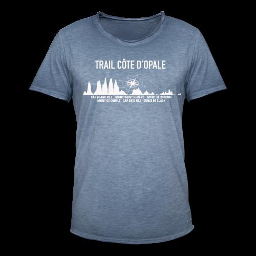Tee shirt Profil Trail Côte d\'opale vintage bleu jean Homme