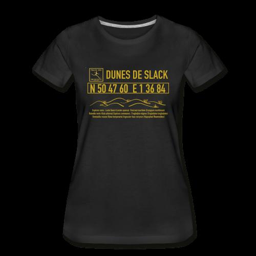 T-shirt bio Dunes de Slack  Femme Trail Côte d\'Opale