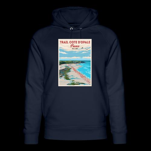 Sweat shirt Mixte Bleu Marine Trail Côte d\'Opale Bleu avec affiche cap Griz Nez Spirit