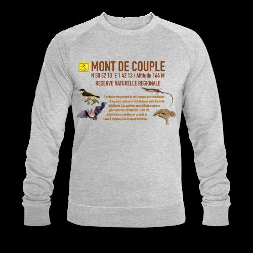 Sweat shirt gris Homme chiné Bio Mont de Couple Trail Côte d\'Opale