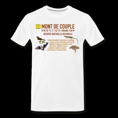 Tee Shirt Bio Blanc Homme Mont de Couple Trail côte d\'Opale