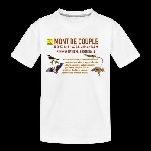 Tee shirt bio pretium ado mixte Mont de Couple Trail Côte d\'Opale !