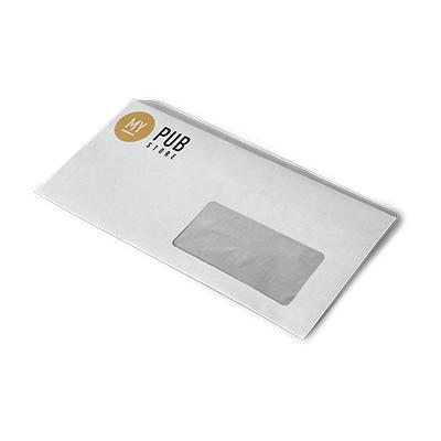 Enveloppe C6 23 x 11 cm avec fenêtre - 25 à partir de 37,80 € HT