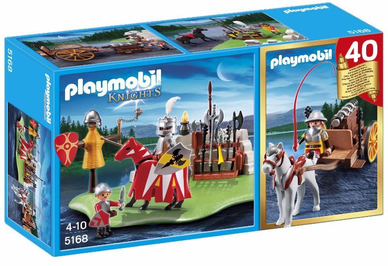 Playmobil - 5168 - Compact Set Anniversaire - Tournoi Des Chevaliers Avec Canon