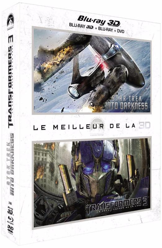 Coffret blu ray 3D : star trek into darkness ; transformers 3