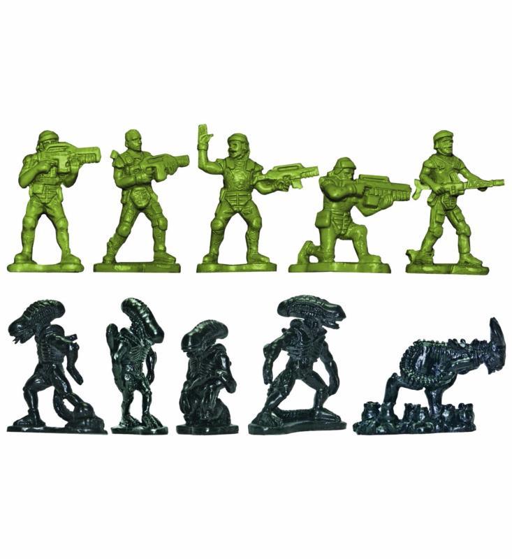 Alien - Pack 35 figurines Army Men VS Aliens 5 cm