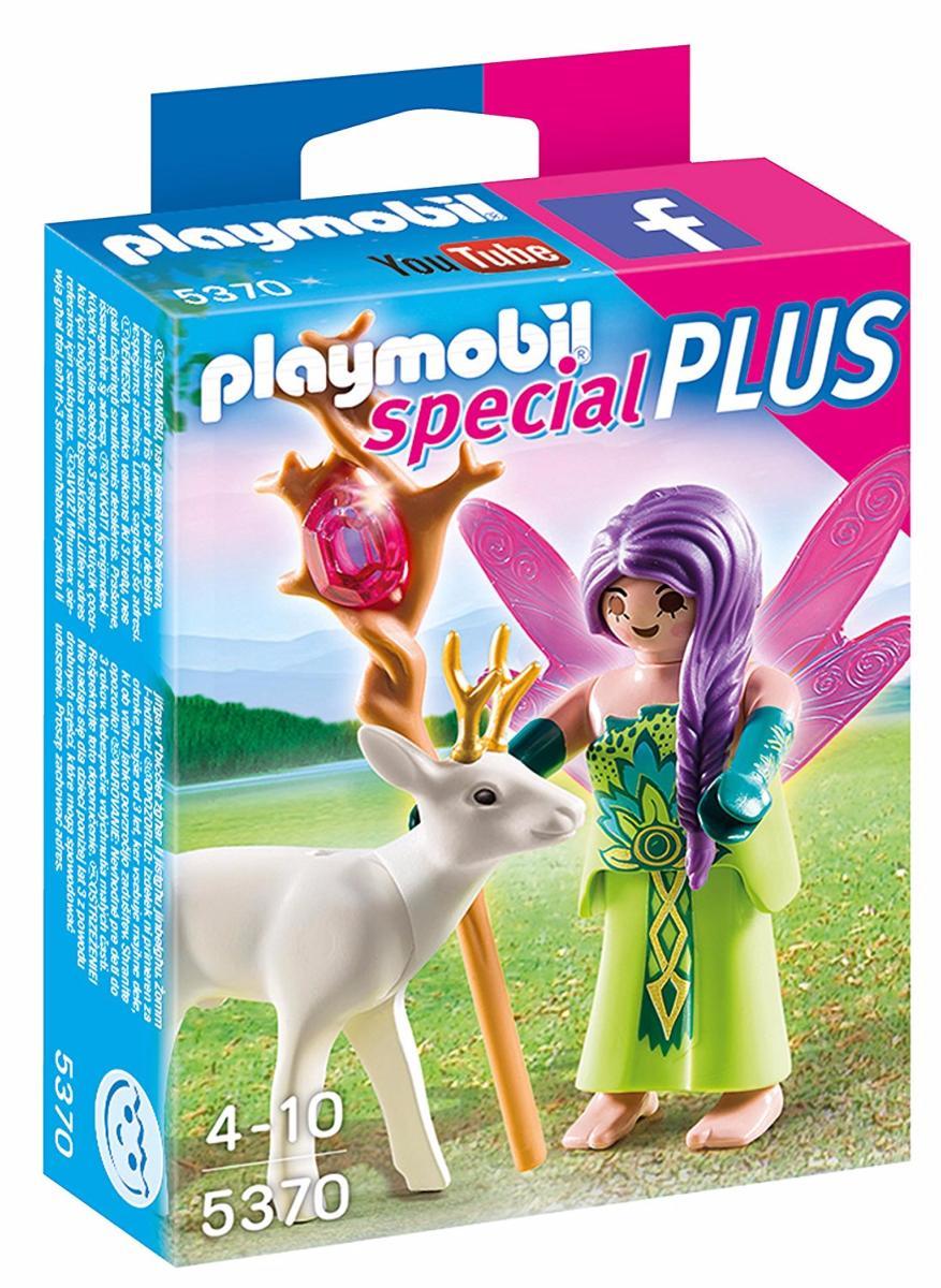 Playmobil - 5370 - Fée ailée avec chevreuil blanc