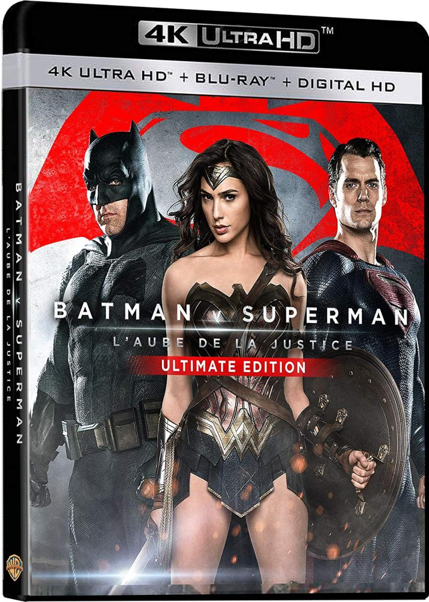 Batman v Superman : L\'aube de la justice - [Blu-Ray 4K + Blu-Ray + Digital HD]