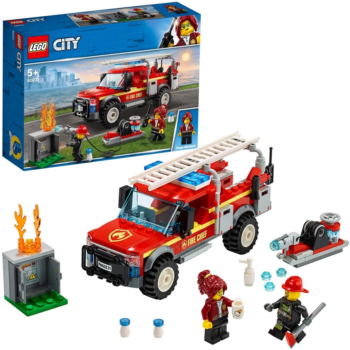 Jouet LEGO CITY 60231 Le camion du chef des pompiers