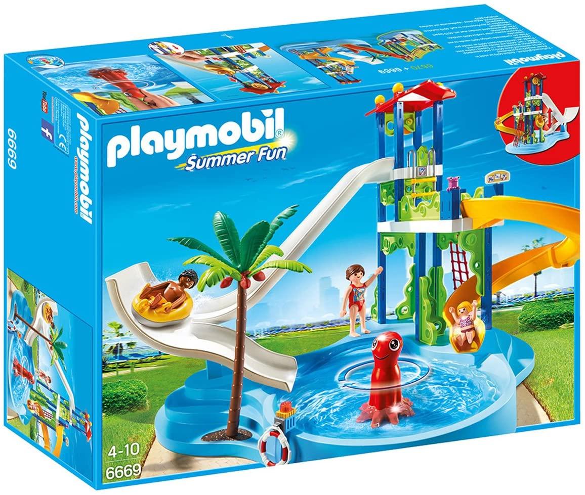 Jouet Playmobil - 6669 - Parc aquatique avec toboggans géants