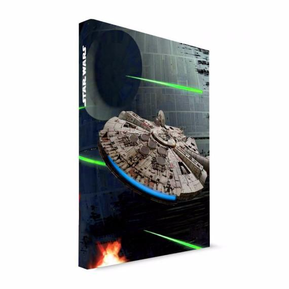 Notebook sonore et lumineux Star Wars Falcon Millenium