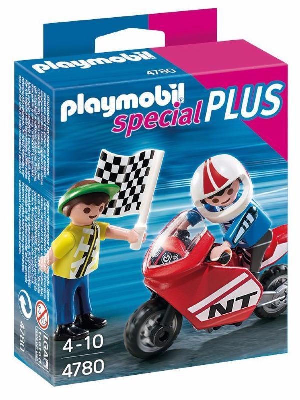 Playmobil - 4780 - Enfants Et Moto De Course