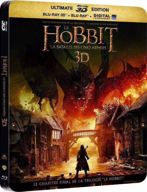 Le Hobbit - La bataille des cinq armées - BLURAY 3D + 2D + DVD + DIGITAL HD Ultraviolet