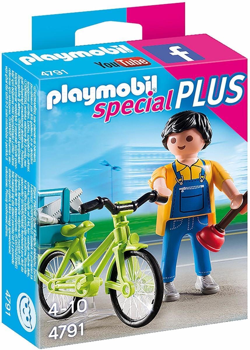 Playmobil - 4791 - Bricoleur avec materiel et velo