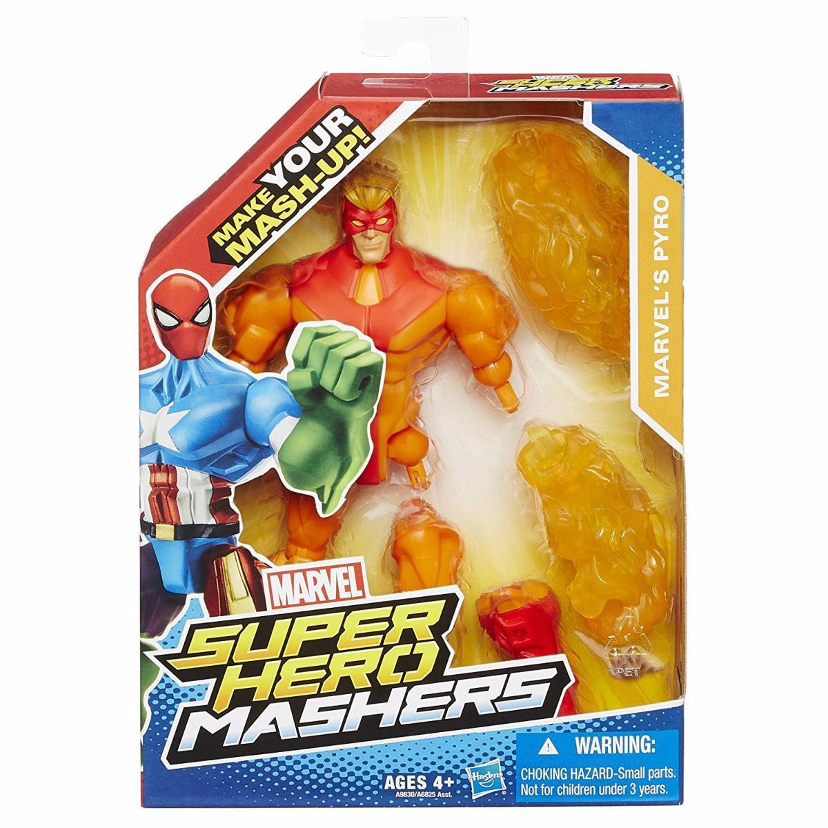 Marvel Super Hero Mashers Marvel\'s Pyro Figurine Personnalisable 15 cm