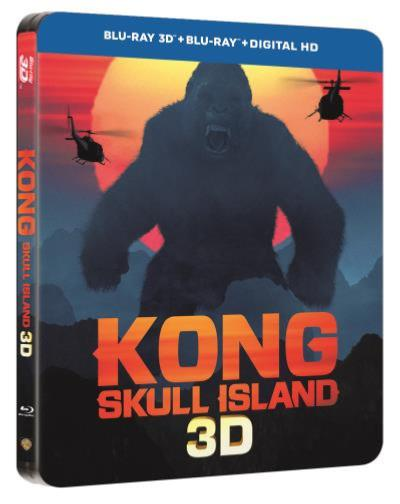 Kong Skull Island Steelbook Ultimate Edition [Blu-Ray 3D + Blu-Ray + DVD + DIGITAL HD]