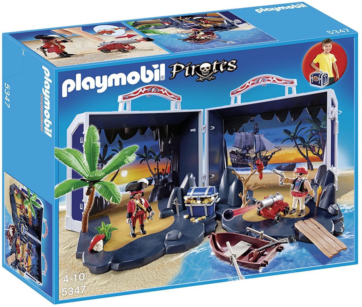 Playmobil - 5347 - Valise Ile Au Trésor Des Pirates