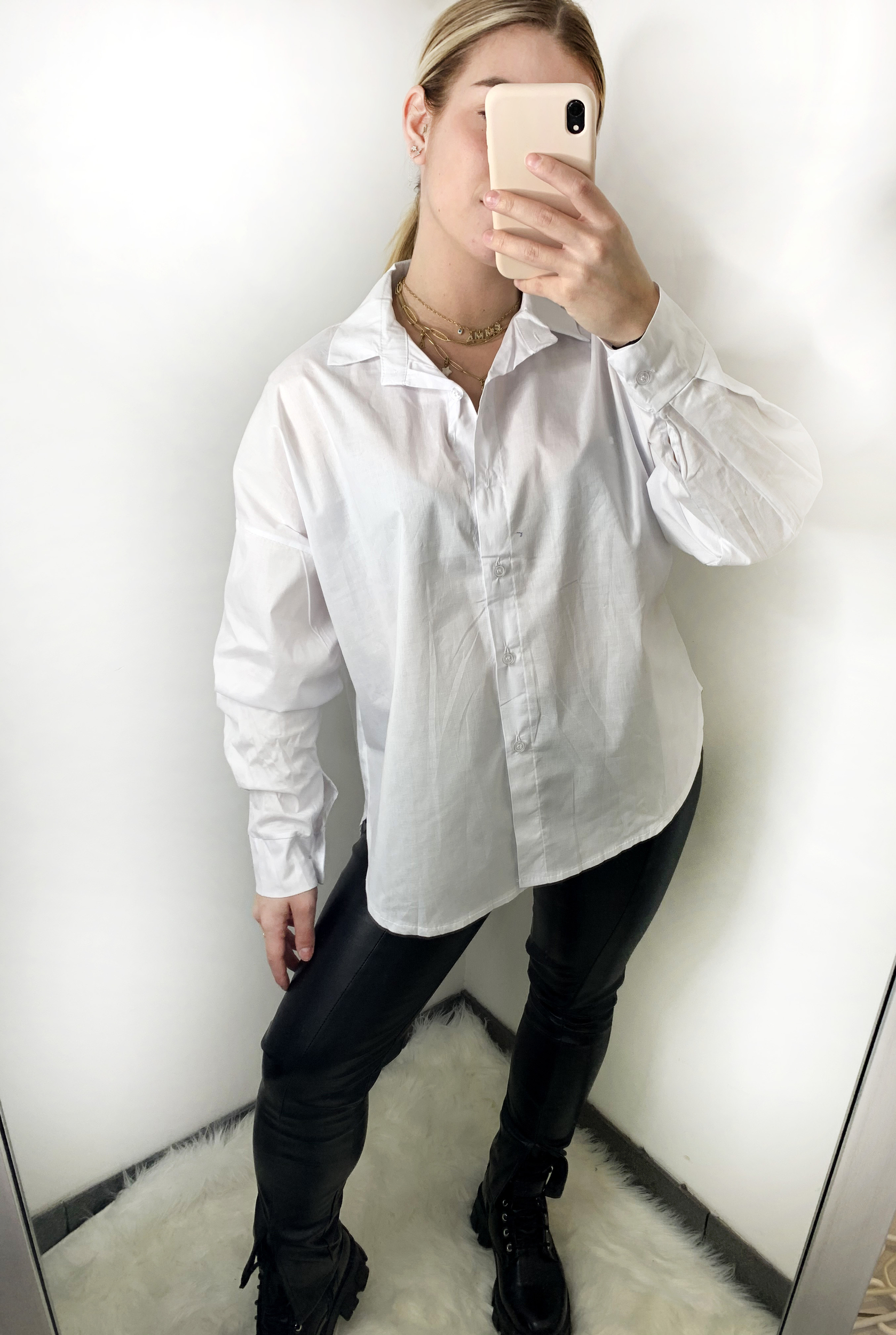 CHEMISE COURTE [ BLANCHE ]