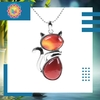 Pendentif chat agate rouge