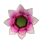 Eclairage d'ambiance Lotus rose bords or2