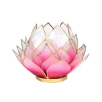 Eclairage d'ambiance Lotus rose bord or grand