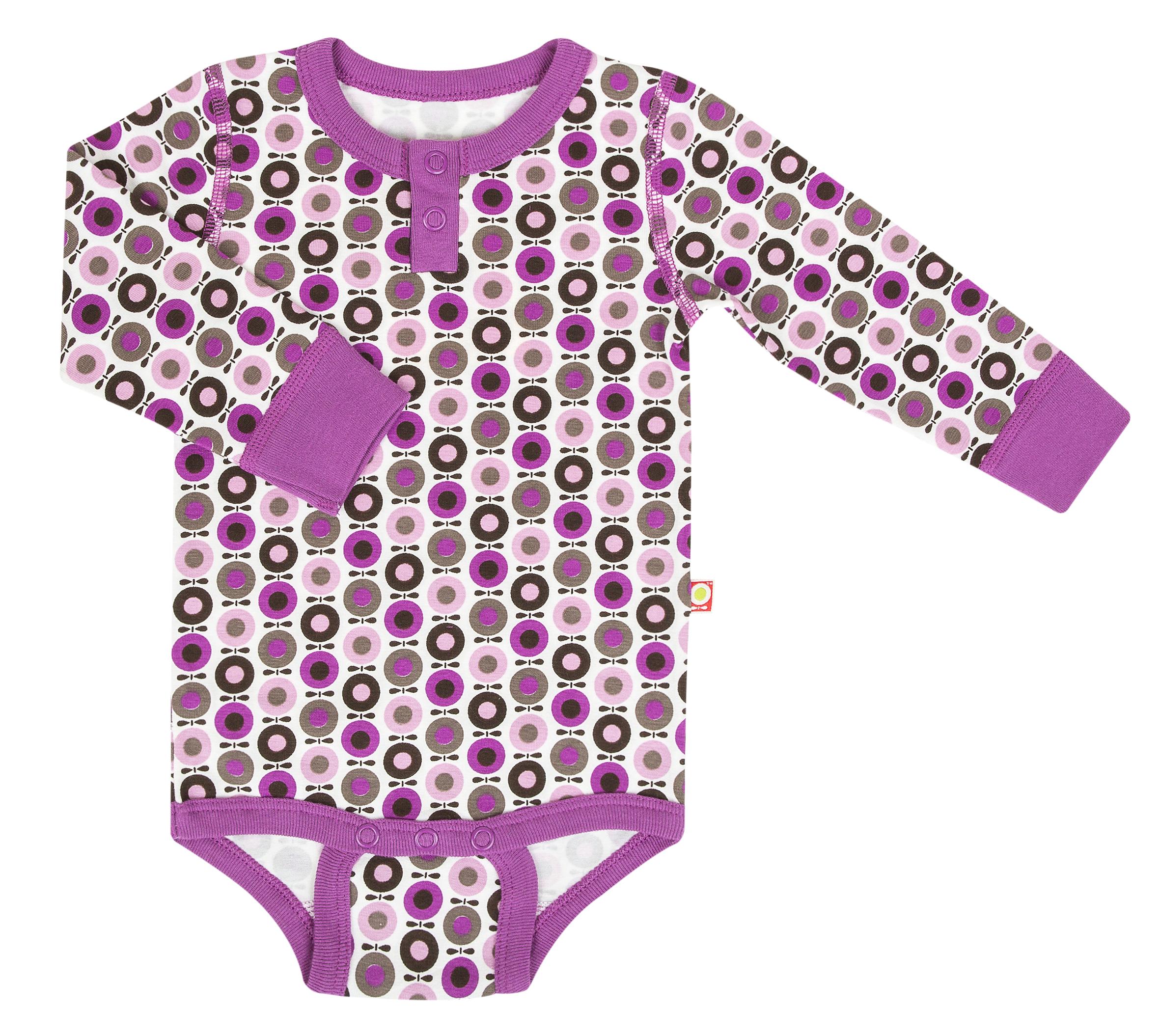 Katvig - Body avec manches longues en coton bio - couleur rose