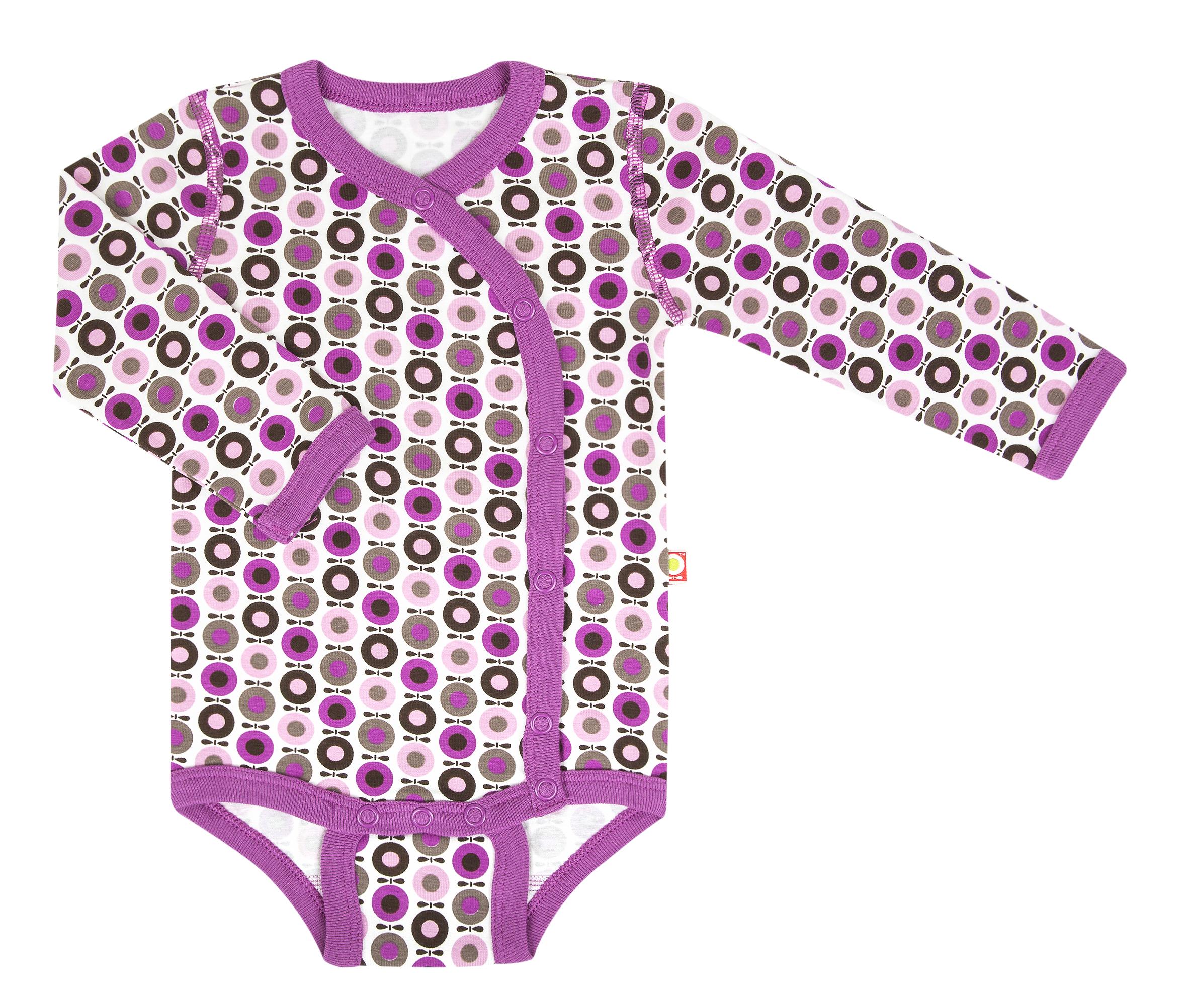 Katvig - Body cache-cœur avec manches longues en coton bio - couleur Rose