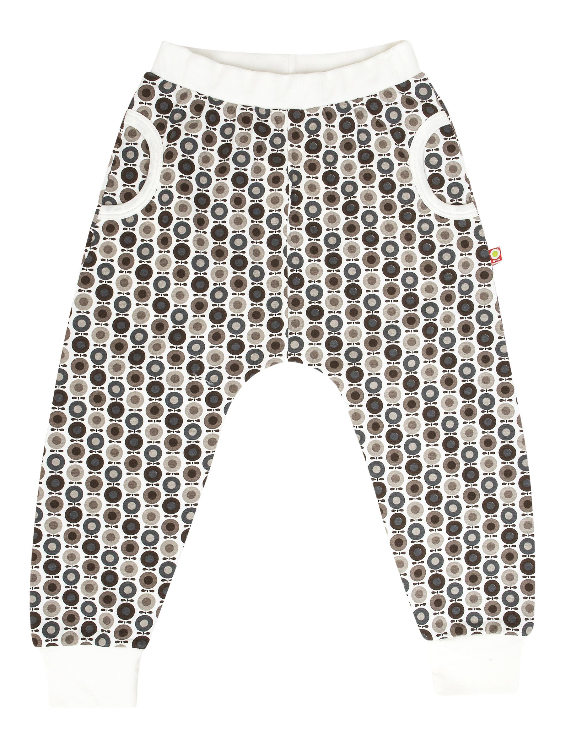 Katvig - Pantalon à coupe évasée en coton bio - couleur blanc/marron.
