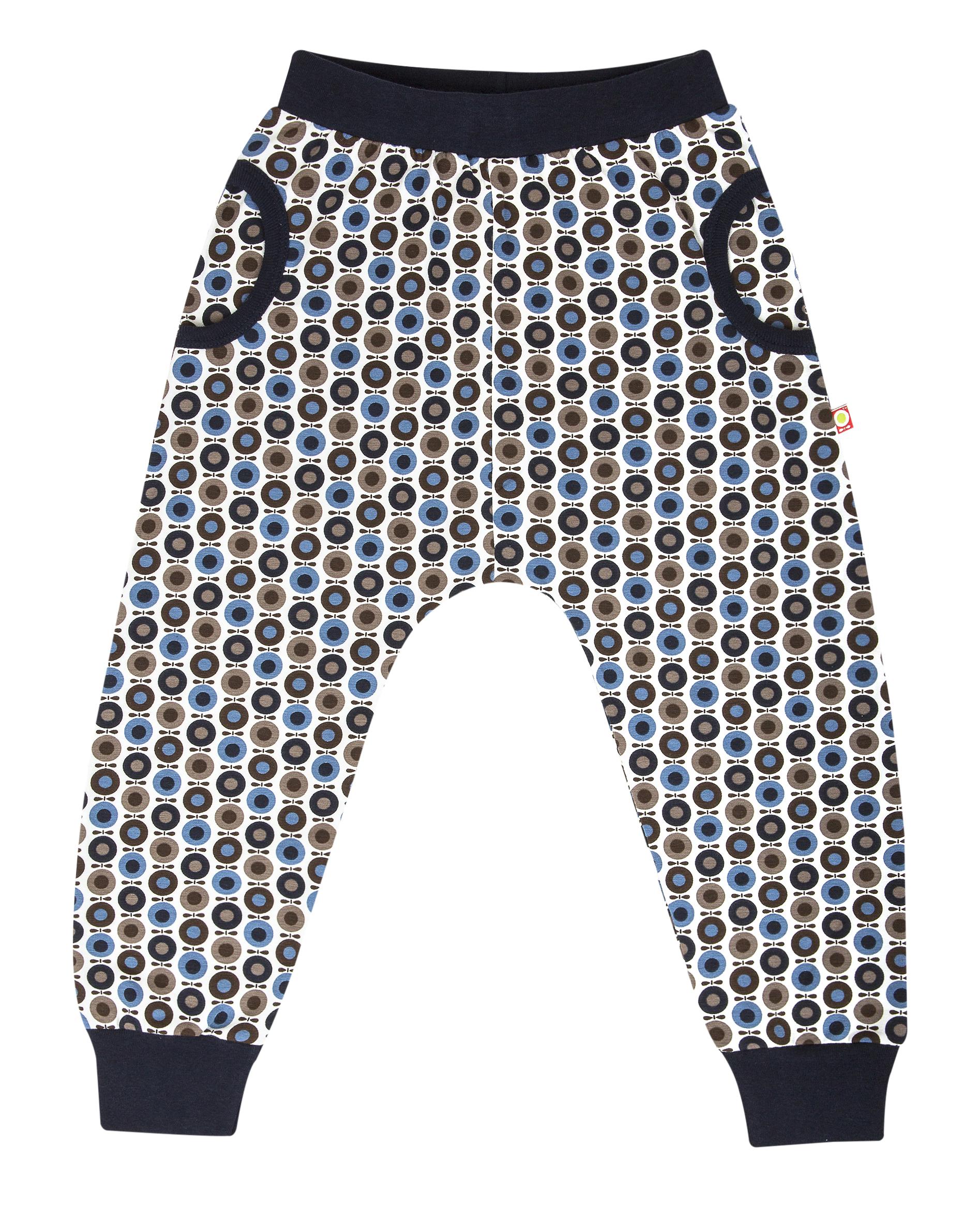 Katvig - Pantalon à coupe évasée en coton bio - couleur bleu/marron.