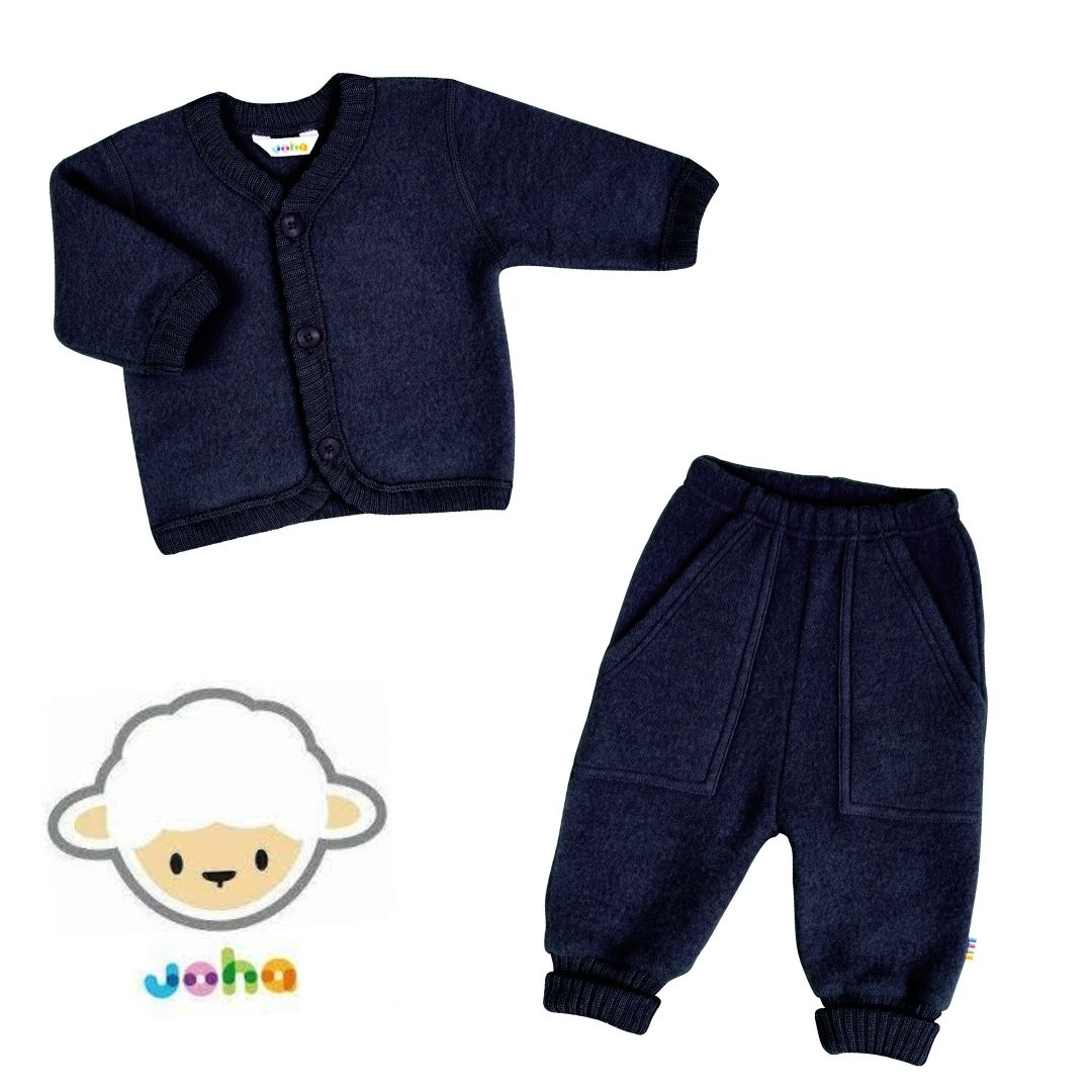 Ensemble JOHA pantalon et cardigan laine brossée